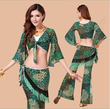 Womens Peacock Halloween Costume Peacock Belly Dance Costume Belly Dance Indian Dress