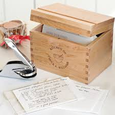 personalized wooden boxes personalized recipe gift set with embosser williams sonoma