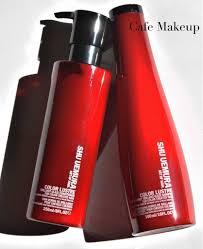 review shu uemura color lustre shampoo and conditioner café makeup