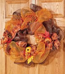 Halloween Wreaths Using Deco Mesh by Deco Mesh Fall Wreath Joann