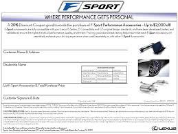 lexus dealership vermont lexus offering 20 off f sport accessories
