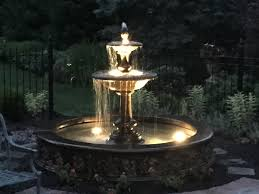 25 cool outdoor water fountains with lights pixelmari com