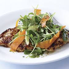Celery Salad Honey Mustard Turkey Cutlets With Arugula Carrot And Celery