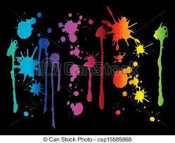 spectrum paint splatter spectrum colored paint splatters clip