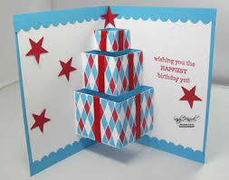 pop out birthday cards udderlyawesome sting from the big top birthday pop up card