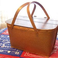 vintage picnic basket best vintage products on wanelo
