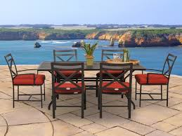 Tropitone Shoreline by Caluco San Michele Casual Cushion Aluminum Dining Set Save 10
