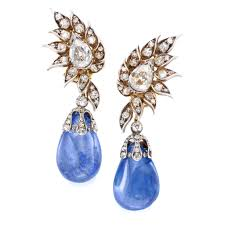 chaumet earrings pair of antique burmese sapphire and diamond earrings by chaumet