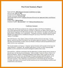 conference summary report template 9 post event summary template besttemplates