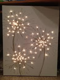 Christmas Lights In Bedroom Dandelion Canvas Diy Pinterest Dandelions Lighted Canvas
