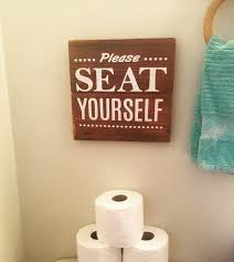 funny bathroom sign made by farmhouse clutter www facebook com
