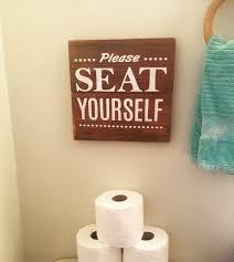 Bathroom Artwork Funny Bathroom Sign Made By Farmhouse Clutter Www Facebook Com