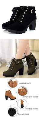 womens fashion boots target high top heel ankle boots winter pumps lace up buckle