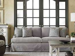 Sofas With Pillows by Oyster Bay Stowe Slipcover Sofa Gray Lexington Home Brands