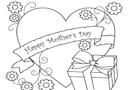 mother s day coloring sheet one of the mothers day coloring pages to