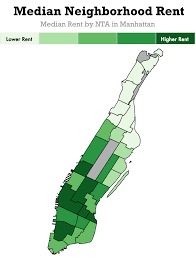 Manhattan Neighborhoods Map Is There A Relationship Between Coffee Shops And High Rent
