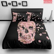 Jack Skellington Comforter Set The Cherry Blossom Skulls Cartoon Bar Fight Reincarnate Bedding