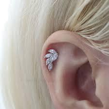 stud cartilage piercing leaf stud earring cartilage piercings serendipity in seoul