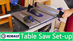table saw with dado capacity setting up kobalt 15 amp 10 in carbide tipped table saw youtube
