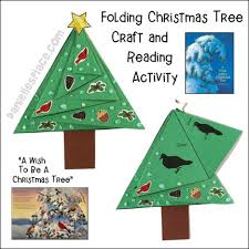folding tree craft and reading activity from www