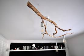 branch chandelier nature inspired diy tree branch chandelier shelterness