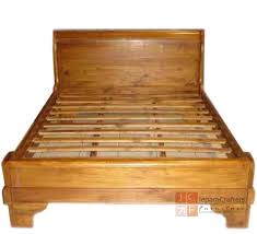Wood Sleigh Bed Teak Wood Sleigh Bed Plain Bedroom Furniture Indonesia Exporter