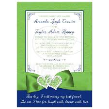 royal blue wedding invitations wedding invitation royal blue lime green white floral
