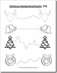 free christmas handwriting coloring preschool