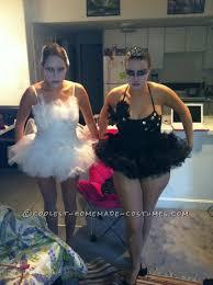 Black Swan Costume Halloween Homemade Black White Swan Couple Halloween Costume