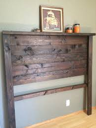 Barn Wood Headboard Elegant Rustic Wood Headboard Remodelaholic Curvy Reclaimed Wood