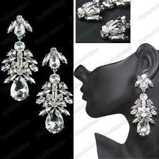 Costume Chandelier Earrings Crystal Chandelier Clip On Costume Earrings Ebay