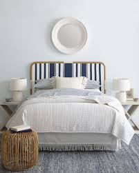 Coastal Master Bedroom Decorating Ideas The Coastal Casual Bedroom Riviera Headboard Via Serena U0026 Lily