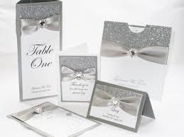 Silver Wedding Invitations Table Names Sweetheart Stationery U2013 Handmade Wedding Invitations
