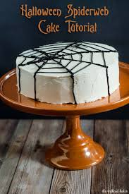 Spider Cakes For Halloween Halloween Spiderweb Cake Tutorial By The Redhead Baker