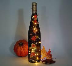 wine bottle light thanksgiving decoration by lightbottlesbyvicki