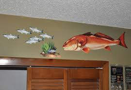 redfish wall decal red drum bold wall art redfish wall decal red drum