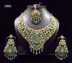 fashion jewellery necklace sets images Artificial heavy colored stone bridal set at rs 990 piece jpg