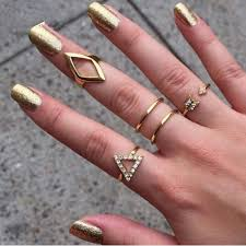 midi ring set 5pcs midi ring set glam shop