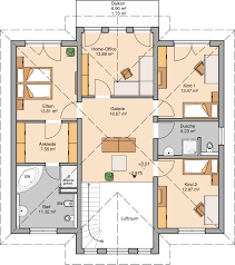 Wohnzimmer Quadratisch Grundriss Kern Haus Stadtvilla Karat Grundriss Obergeschoss Häuser