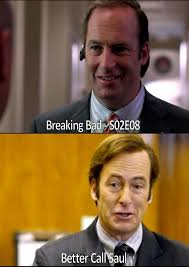 Better Call Saul Meme - breaking bad and better call saul six years previously