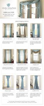 Window Scarves For Large Windows Inspiration Curtain Panel Hanging Options Style On A Budget Curtains