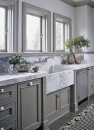gray kitchen cabinets with white marble countertops corea sotropa interior design on grey