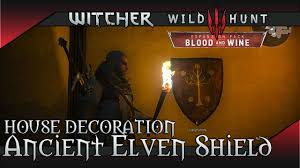 witcher 3 blood and wine ancient elven shield painting corvo