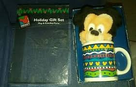 chagne gift set applause mickey mouse unlimited mug change purse gift