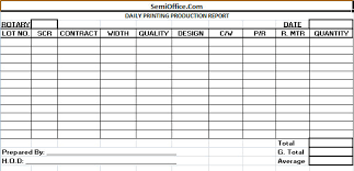 daily report sheet template formats of daily production reports through spreadsheet scheduling
