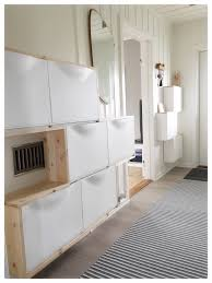 A Warmer And Single Sink Godmorgon Ikea Hackers Ikea by Trones Ikea Hack Small Entry Hallway White U0026 Wood Trones