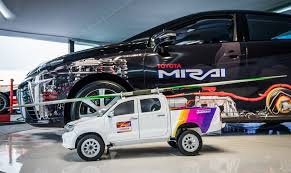 hilux meet the mini hilux helping the world championships go better toyota