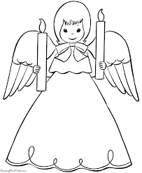 christmas angel coloring pages 012
