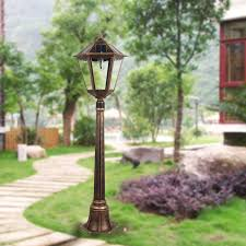 amazon com 4 feet 2 inch outdoor solar powered lamp post with