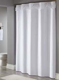 Hotel Shower Curtain With Snap In Liner Hookless Shower Curtains Arcs U0026 Angles